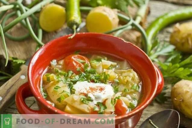 Sommer-Gemüsesuppe in Hühnerbrühe