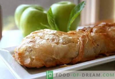 Apfelstrudel - die besten Rezepte. Wie man richtig und lecker Kochstrudel mit Äpfeln kocht.