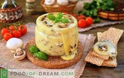 Hausgemachter Schmelzkäse aus Hüttenkäse wird professionell zubereitet. Geschmackserlebnis mit Hüttenkäse-Rezepten zu Hause