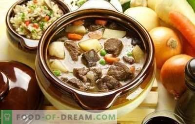 Das Hammelfleisch in einem Topf ist ein gutes Fleisch für echte Feinschmecker. Wie man Lammfleisch in einem Topf im Ofen auf verschiedene Arten zubereitet