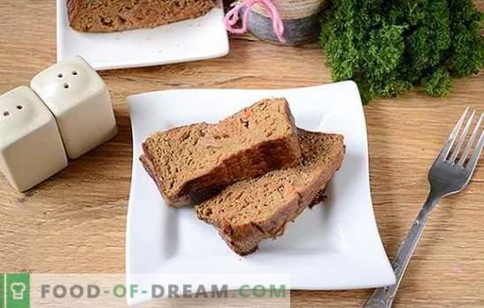 Soufflé au foie: plat diététique délicat et sain. Photo-recette pas à pas de l'auteur pour un soufflé au foie de poulet