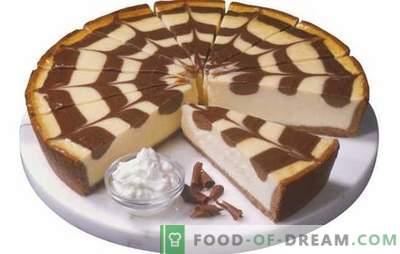 Zebra-Torte auf Kefir: wie kann man es backen? Den Kuchen