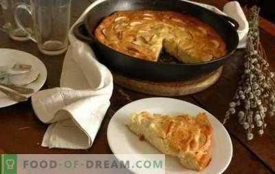 Hüttenkäse-Auflauf mit Äpfeln - ein ungewöhnliches Frühstück und gesund. Rezepte für Hüttenkäse-Aufläufe mit Äpfeln: diätetisch und herzhaft