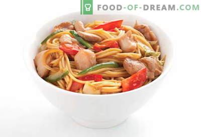 Hühnernudeln sind die besten Rezepte. Wie man richtig und lecker Suppe und hausgemachte Nudeln mit Hühnerfleisch kocht.