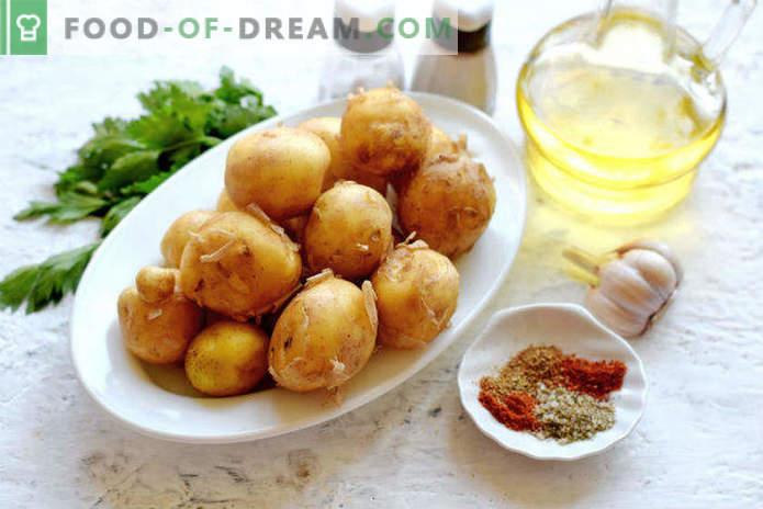 Neue Kartoffeln im Ofen, Rezept in Selyanski