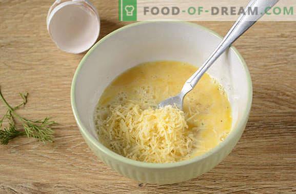 Omelet cu brânză și cârnați: nu poate fi mai ușor! Rețetă fotografică de autor pentru o omletă cu brânză și cârnați - care este secretul pompei unui omlet?