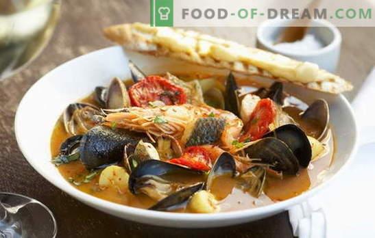 Bouillabaisse-Suppe ist die Elite in unserer Küche. Verschiedene Rezepte der Suppe