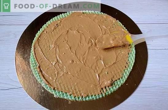 Вафлена торта: стъпка по стъпка фото рецепта. Изработване на вафлена торта от готови торти с кондензирано мляко - проста и много вкусна!