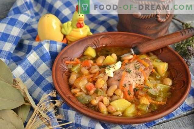 Rassolnik mit Hähnchen und Bohnen