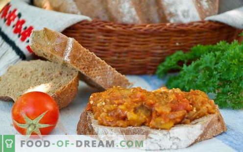 Auberginen-Kaviar - die besten Rezepte. Wie man richtig und lecker Auberginen-Kaviar kocht.