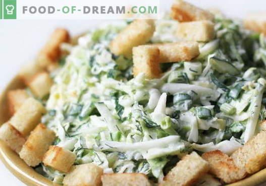 Salat mit Kohl und Crackern - eine Auswahl der besten Rezepte. Köstliche Kohlsalate mit Crackern kochen.