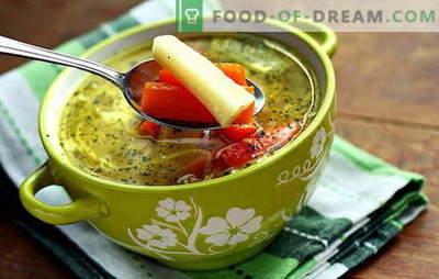 Magere Gemüsesuppe - für Vegetarier und Fasten. Rezepte, die magere Gemüsesuppe kochen