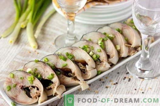 Gesalzene Makrele - die besten Rezepte. Wie man Makrele zu Hause in Essig legt.