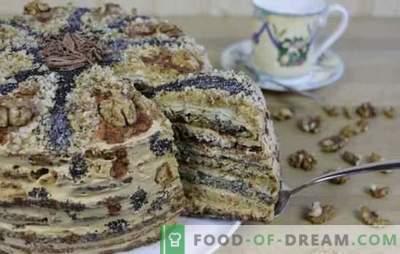 Ladies Caprice Cake - lass uns Süßigkeiten gönnen! Rezepte für Honig, Mohn, Nuss, Schokoladenkuchen