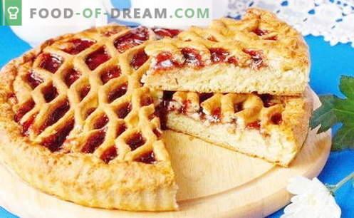 Jam Pies sind die besten Rezepte. Wie man richtig und lecker einen Kuchen mit Marmelade zubereitet.
