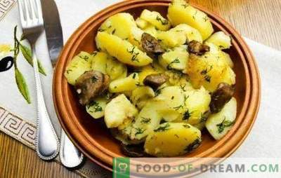 Kartoffeln mit Pilzen in einem langsamen Kocher sind besser als in einer Pfanne. Kartoffeln mit Pilzen in einem langsamen Kocher: gebraten, gedünstet, gebacken
