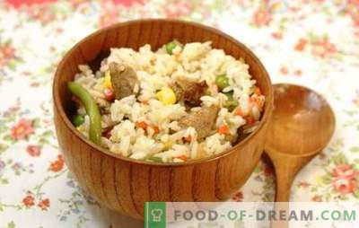 Reis mit Fleisch in einem langsamen Kocher: vom Pilaw zur Paella. Rezepte beliebter Reisgerichte mit Fleisch in einem Slow Cooker: einfach und originell
