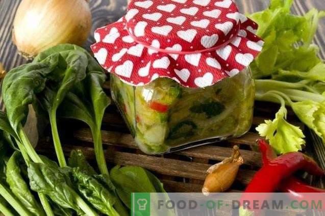 Grüne Suppe für den Winter - Suppendressing mit Spinat und Sellerie
