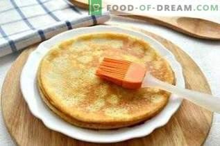 Mit gekochter Gans gefüllte Pfannkuchen