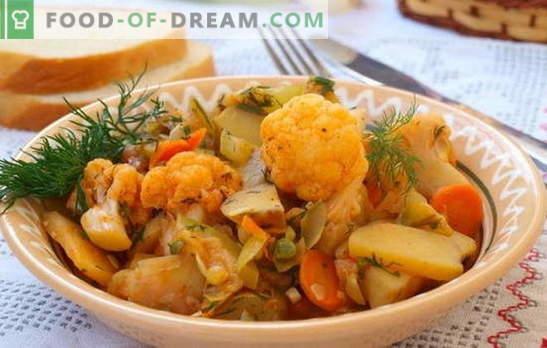 Der beliebteste Eintopf ist Gemüse mit Kohl und Kartoffeln. Rezepte für laxes Fasten - Gemüseeintopf mit Kohl und Kartoffeln