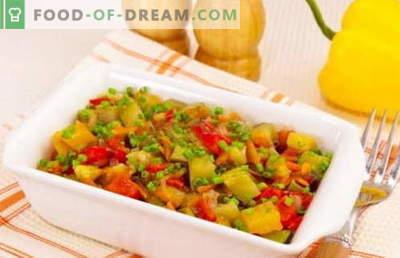 Gestoofde courgette - de beste recepten. Hoe goed en smakelijk gekookt gestoofde courgette.