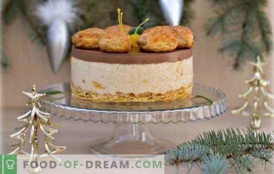 Naked Cake ist ein neuer Trend in der Süßwarenmode. Rezepte und interessante Ideen für die Dekoration moderner, nackter Kuchen