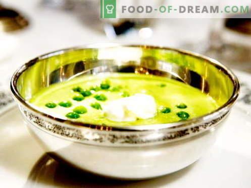 Erbsensuppe - die besten Rezepte. Wie man richtig und lecker Kocherbsensuppe kocht.