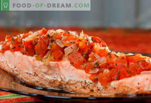 Ofengebackener Lachs sind die besten Rezepte. Wie man richtig und lecker Lachs kocht, der im Ofen gebacken wird.