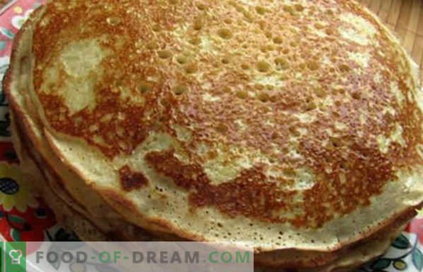 Hefeteig für Pfannkuchen, mager, sauer, ohne Eier