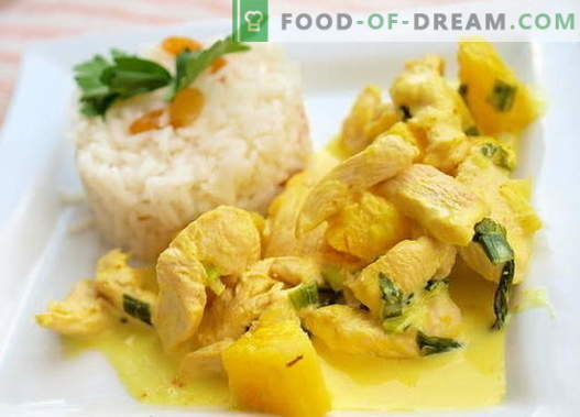 Curry Chicken - die besten Rezepte. Wie man richtig und lecker Curryhuhn kocht.