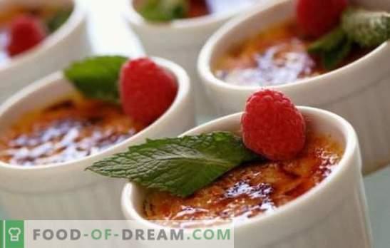 So machen Sie Crème Brûlée zu Hause. Unglaubliche Vielfalt an Garmethoden für Crème Brûlée