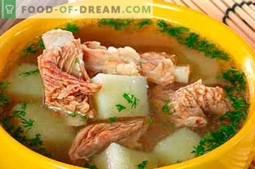 Schweinebrühe - die besten Rezepte. Wie man richtig und lecker Schweinebrühe kocht.