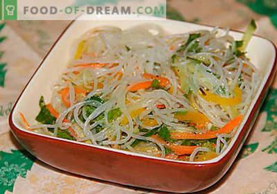 Funchoza mit Gemüse - die besten Rezepte. Wie man richtig und lecker Funchoza mit Gemüse zu Hause kocht.
