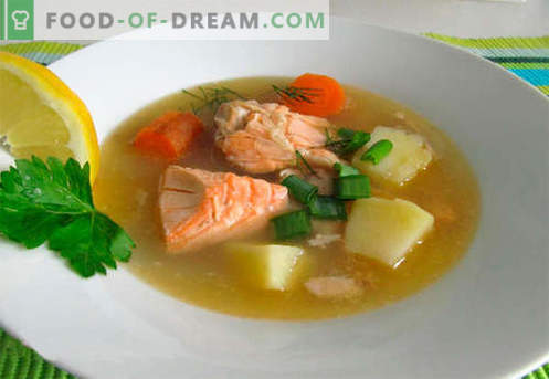 Lachssuppe - die besten Rezepte. Wie man richtig und lecker Lachssuppe kocht.