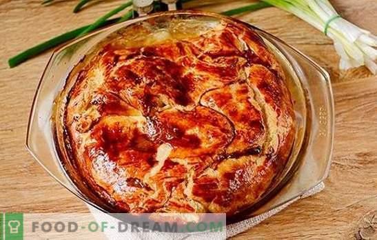 Fleischpastete aus dem fertigen Blätterteig: Schritt für Schritt Rezept des Autors. Wie man schnell eine Fleischpastete mit Blätterteiggebäck mit Hackfleisch backt