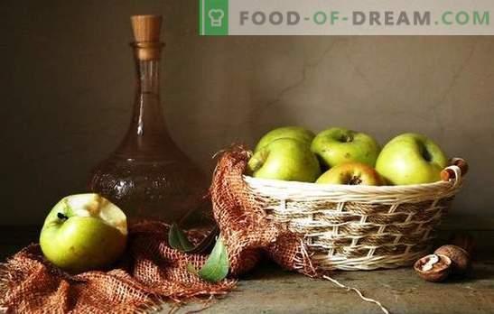 Apfelsaison - wir machen aus Äpfeln einen Weinstrauß, ohne zu drücken. Die Technik des hausgemachten Weins aus Äpfeln ohne Saft - die Vor- und Nachteile der Weinherstellung aus Apfelbrei