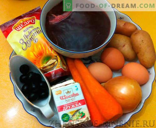 Salat mit Pilzen - ein Rezept mit Fotos und Schritt für Schritt Beschreibung