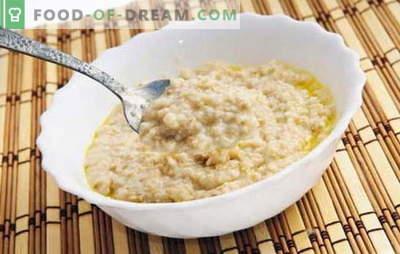 Wie kann man Haferflocken kochen, um es lecker zu machen? Brei auf Wasser mit Milch, Rosinen, Kürbis und Äpfeln