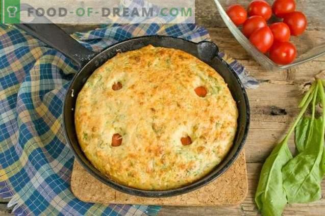 Omelett mit Quark und Spinat