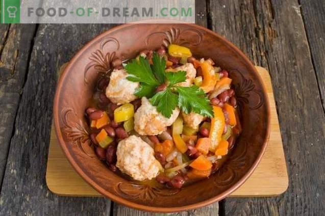 Gemüseeintopf mit Hähnchenfleischbällchen