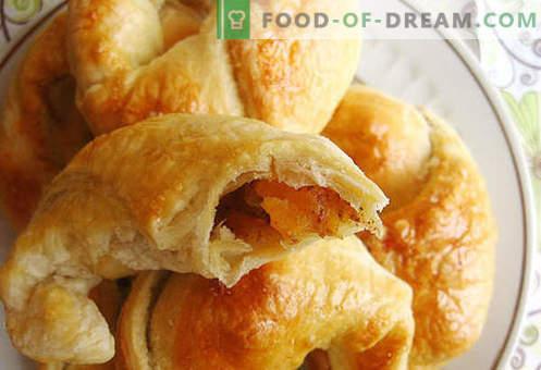 Puff Bagels (Blätterteig) - die besten Rezepte. Wie man richtig und lecker Puff Bagels macht.