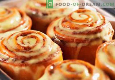 Cinnabon-broodjes zijn de beste recepten. Hoe Cinnabon goed en lekker te koken, thuis