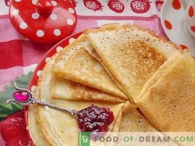 Pfannkuchen auf Hefeteig