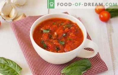 Adjika aus Tomaten - so anders! Einfach, scharf, mit Knoblauch oder Meerrettich, roh oder gekocht: adjika-Tomaten für jeden Geschmack