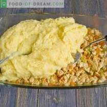 Hähnchen-, Käse- und Olivenkartoffelauflauf