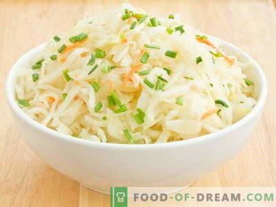 Sauerkrautsalat - die besten Rezepte. Salate aus Sauerkraut richtig kochen.