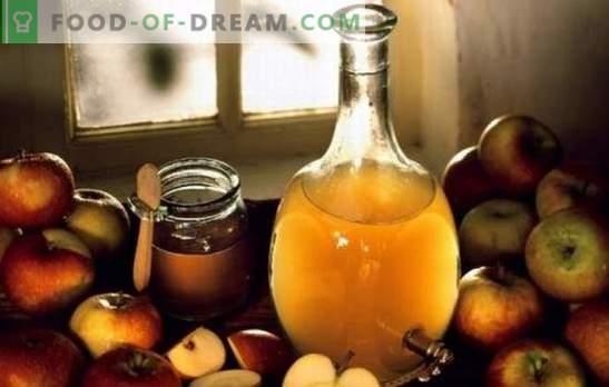 Apfelessig: zu Hause kochen. Warum ist es besser, Apfelessig zu Hause zu kochen
