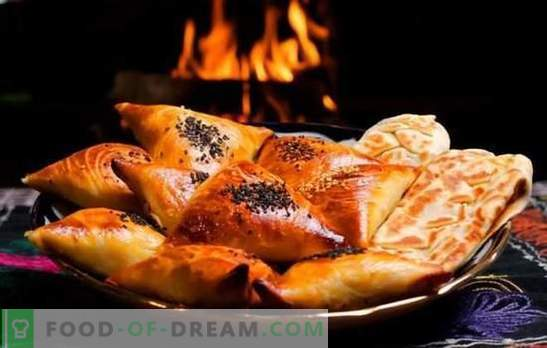Samsa - step-by-step recipes for delicious meat triangles. Preparing traditional and puff samsa at home with step-by-step recipes