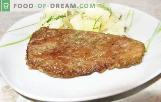 Leber in Milch ist eine altmodische Art, ein zartes und gesundes Gericht zuzubereiten. Rezepte der Leber in der Milch: Huhn, Schweinefleisch, Rindfleisch