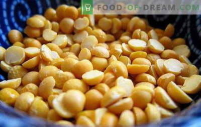 Wie man Erbsen kocht: gelb, grün, braun? Verschiedene Zubereitungsarten von getrockneten, frischen und gefrorenen Erbsen: einfache und komplexe Rezepte